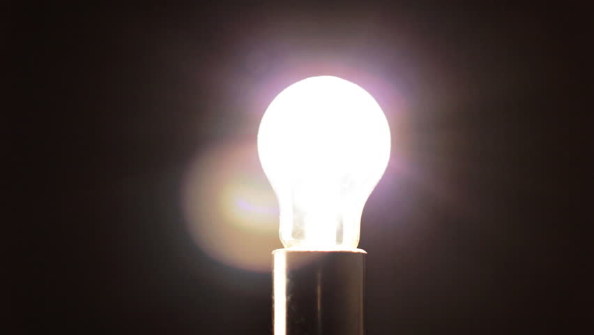Real Light Bulb Turning On Flickering And Off