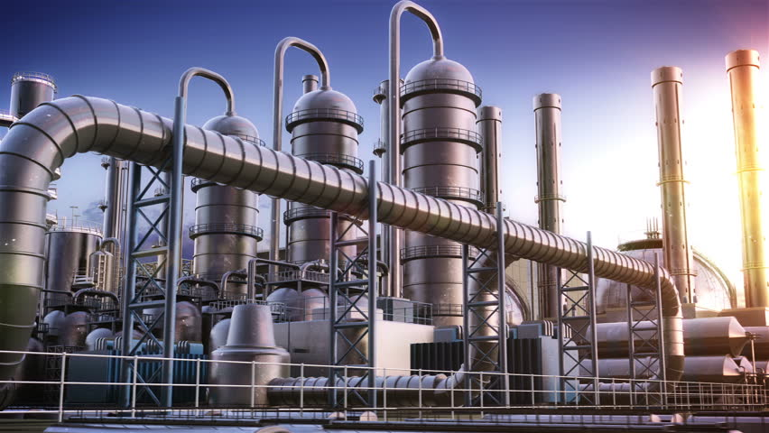 Stock Video Of Chemical Plant 3427016 Shutterstock