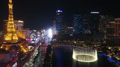 Las Vegas Strip / Aerial, Drone / Nevada 12.12.2017