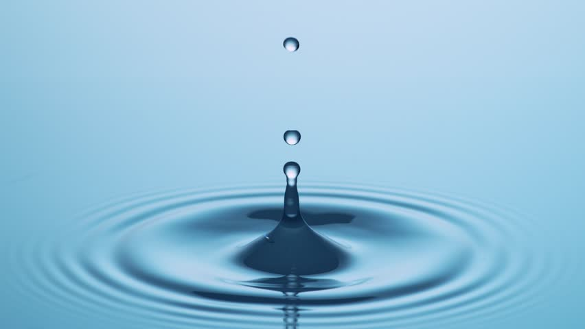Drop of Water - Slow Motion #34305646