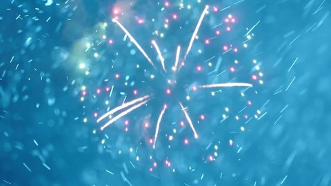 New Year fireworks. Happy new year background