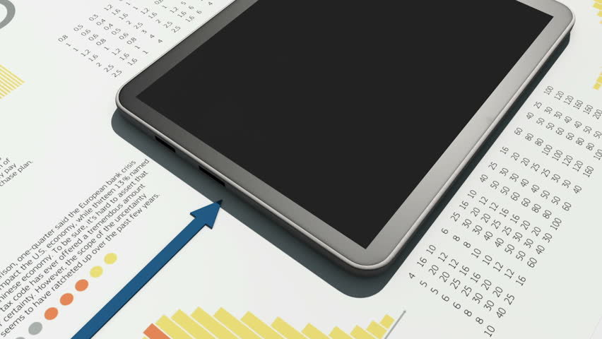 Arrow running on financial charts | Shutterstock HD Video #3438299