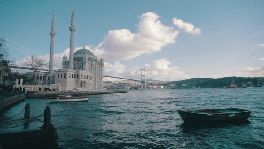 Ortakoy Mosque and Bosporus Istanbul Turkey