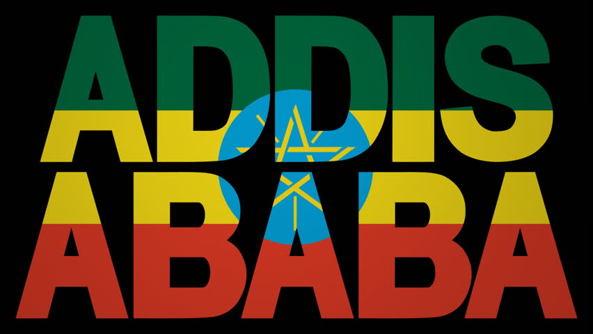 Addis Ababa text with fluttering flag animation | Shutterstock HD Video #3443426