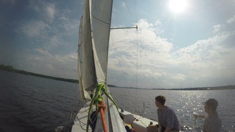 Training Sailors with Sails and Stock Footage Video (100% Royalty