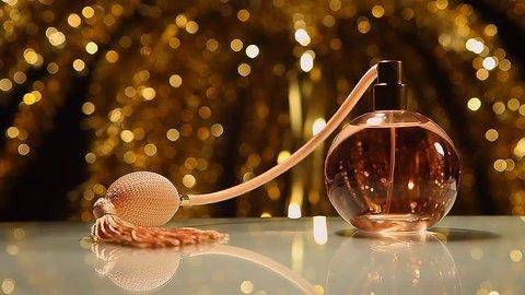 Vintage Perfume Hd video colours bokeh