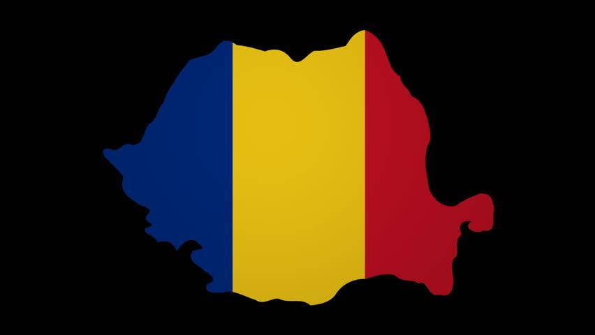 Flag Of Romania Animation Loop Stock Footage Video 4952618 ...