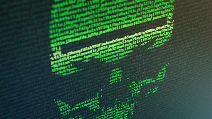 Ransomware attack - Skull Random Data | Shutterstock HD Video #34529026