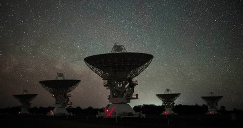 Radio Telescopes Moving in Sync