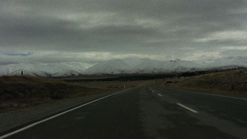 Timelapse of road to Mount Cook National Park pov | Shutterstock HD Video #3463046