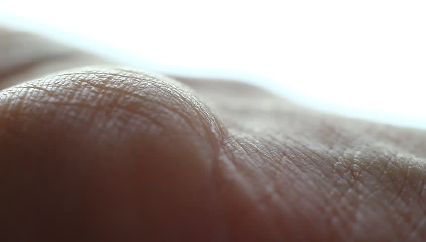 Applying too much of medical ointment on a palm hand with dry skin. Macro clip. Studio. Little shaky clip. | Shutterstock HD Video #34714396