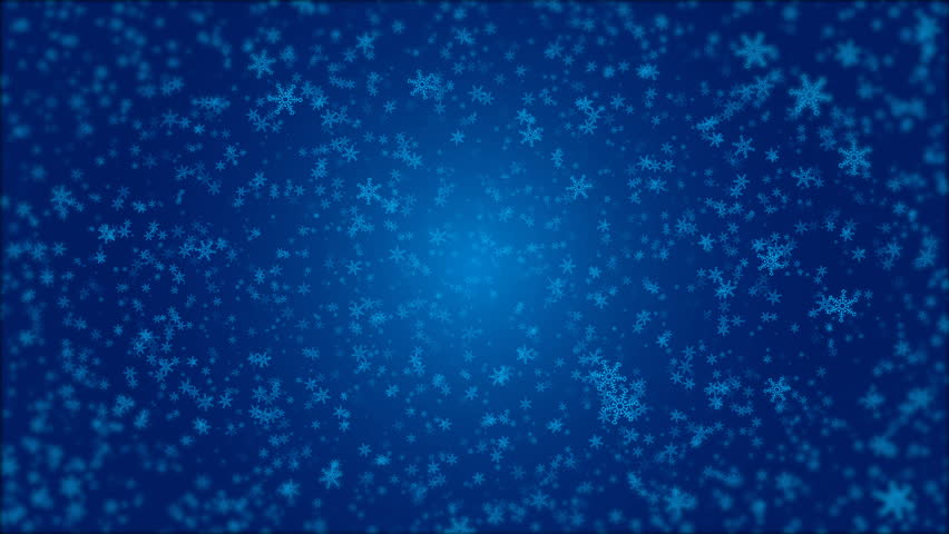 Snowflakes falling animation. Christmas Video Background
