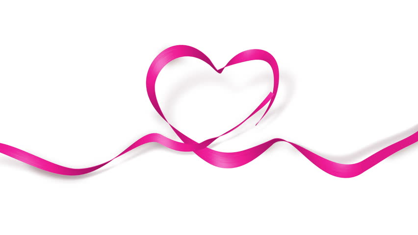 4k00 16hy Valentines Day Ribbon Love Heart Shape Best For Wedding And Mothers Creative From Design Shaped Opening Animation