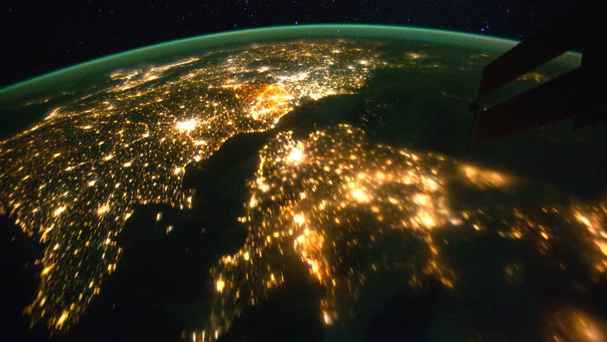 Beautiful zoom in time lapse of Western Europe to the Arabian Peninsula at night from space. Earth maps and images courtesy by Nasa.