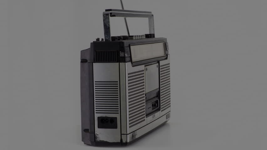 A vintage hifi ghettoblaster spinning around | Shutterstock HD Video #34793506