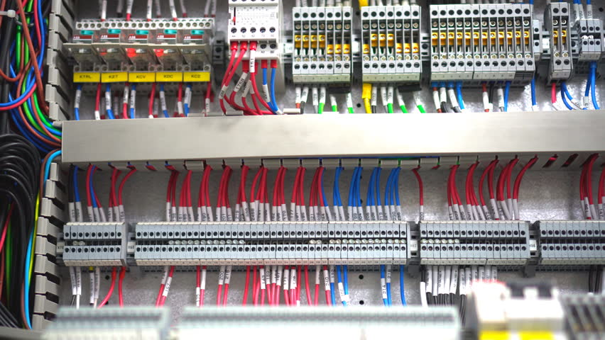 Inside of Electrical Control Panel Stock Footage Video (100% Royalty-free) on wiring an electrical service panel, inside electrical plug, inside electrical controller, inside electrical box, inside electrical wire, inside electrical transformer,