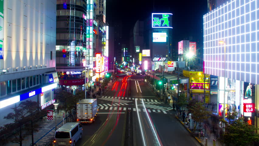 It's a city scape in Tokyo. 4K & time lapse.  We are selling Japanese location on shutterstock. please check other footage too if you hope it.  camera : Canon EOS 7D Shinjuku-ku Tokyo