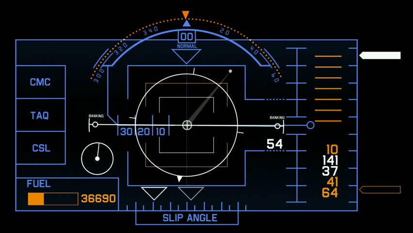 aviation radar GPS navigation screen display & number,computer game interface,hi-tech software panel.