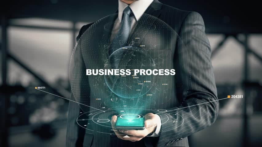 Businessman with Business Process