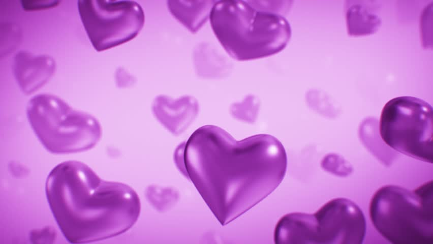 Big purple Heart Animated on Background