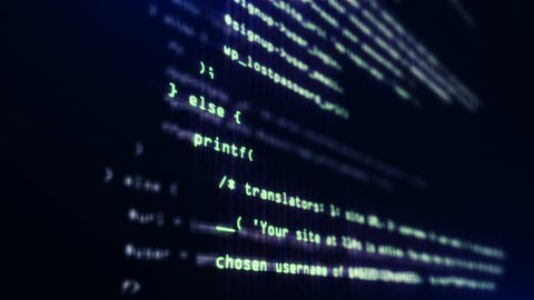 Loopable Programming code running down in terminal