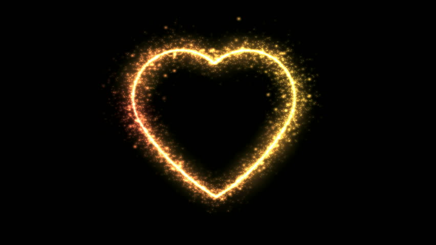 Rotating Sparkling Heart Shape Animation - Loop Golden | Shutterstock HD Video #35068579