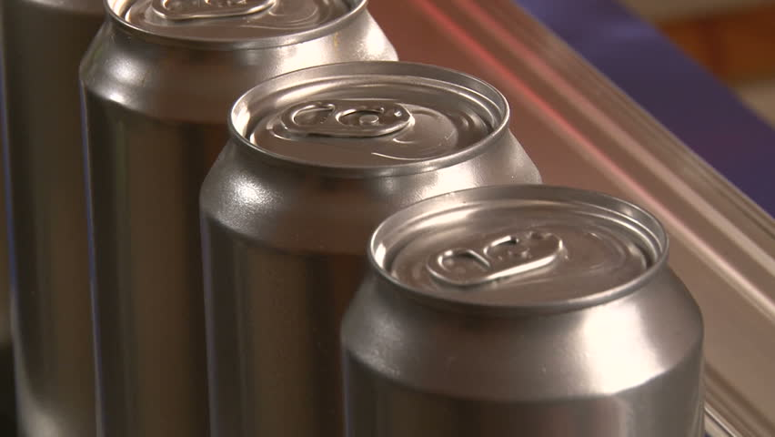 Aluminum Cans, Industry, production line, close up | Shutterstock HD Video #3511316