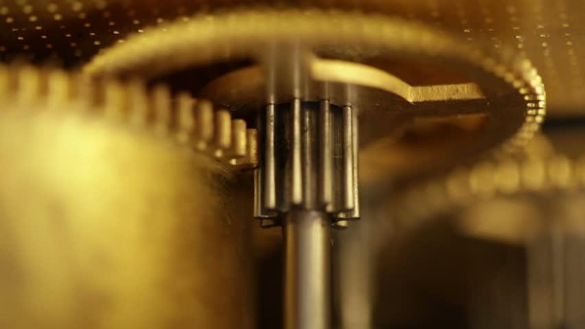 Gear train. Pendulum clock mechanism