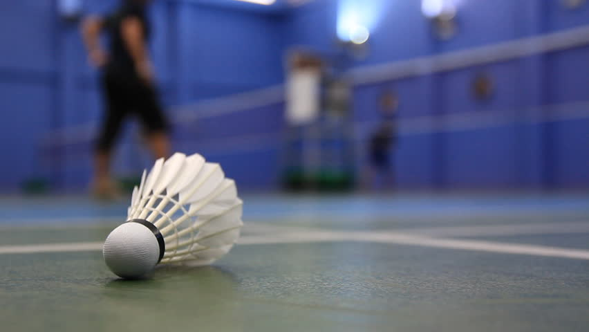 Badminton stock footage video shutterstock for Indoor badminton court height