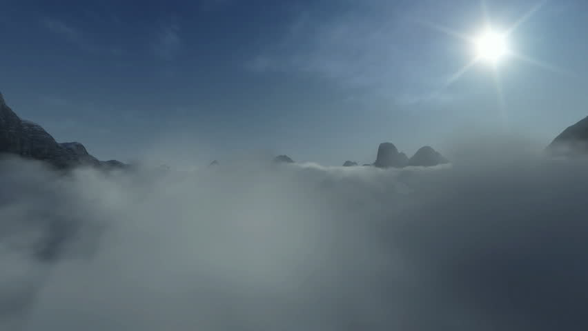 Mountain Peaks above Time Lapse Clouds
