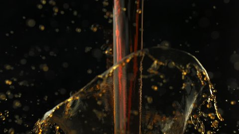Coffee over-spilled in cup shooting with high speed camera, phantom flex.