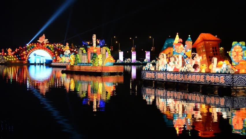 HANGZHOU, CHINA - FEB 24:  Lantern for chinese lantern festival celebrating new