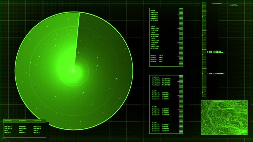 loopable green radar screen (high definition, 1080p HD, seamless loop)