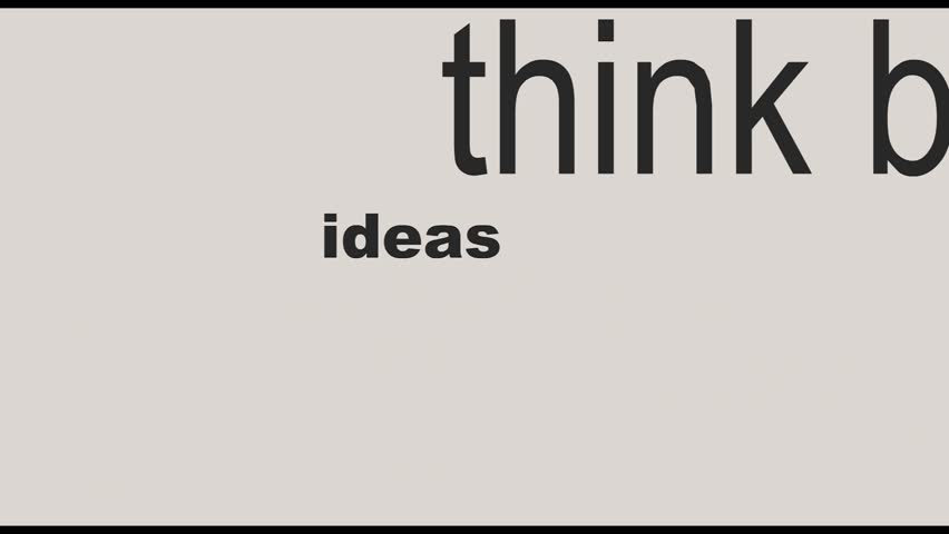 Innovate business concept made with words falling drawing a light bulb