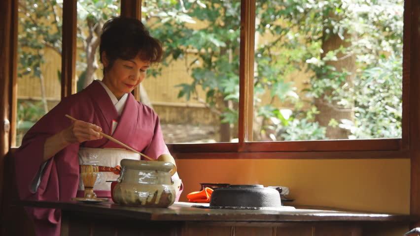 TOKYO - MARCH 20: Tea Ceremony in March 20, 2013 in Tokyo, Japan.