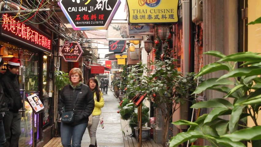 SHANGHAI - DECEMBER 21: Restaurant in Shanghai Tianzifang. Tianzifang is a