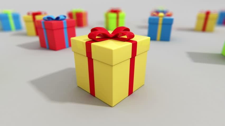 Xmas Gift Box Stock Footage Video Shutterstock