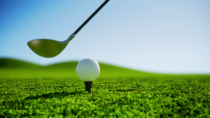 Golfer hitting a golf ball image - Free stock photo ...