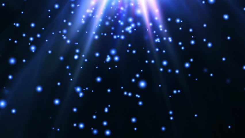 Motion Graphic 20 (HD) Blue Fairy Stars - Magic Background