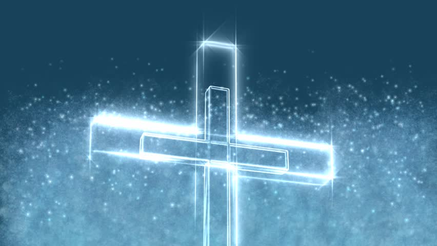 Glowing Christian Cross Motion Background 3672896