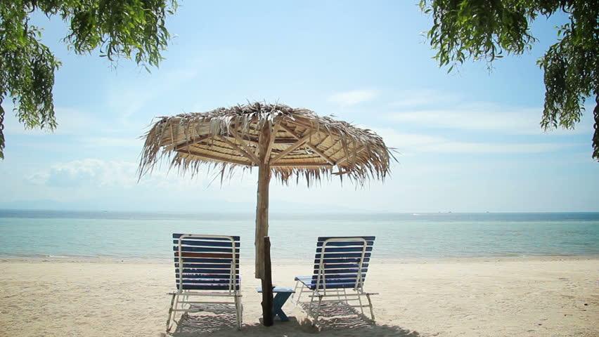 Tropical Beach Chairs Beach Chair Stock Foot...