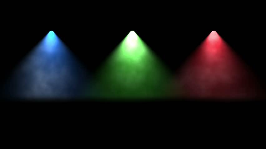 Red Green Blue Spotlights