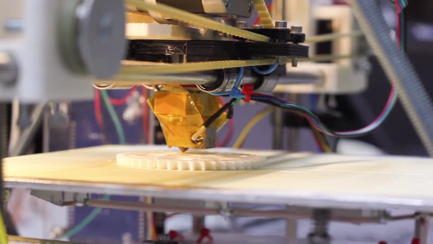 Three dimensional printer during work in school laboratory, 3D plastic printer, 3D printing | Shutterstock HD Video #3704786