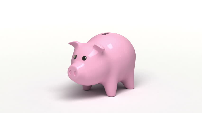 Piggy bank, 3d animation with a sound #3715169