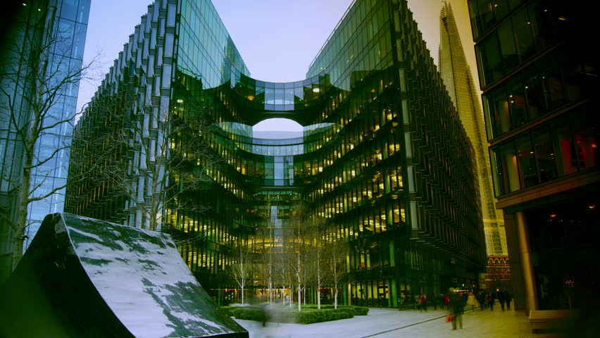 Modern Architecture Videos detail of the geometrical shape in windows of a modern