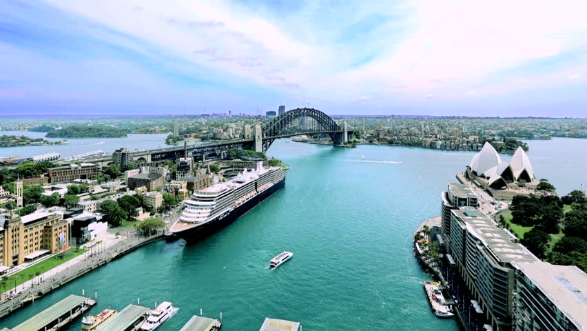 Sydney Harbour Time Lapse over bay