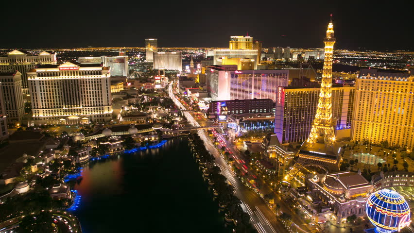 LAS VEGAS - CIRCA APRIL 2013: Timelapse of Las Vegas strip at night | Shutterstock HD Video #3758396