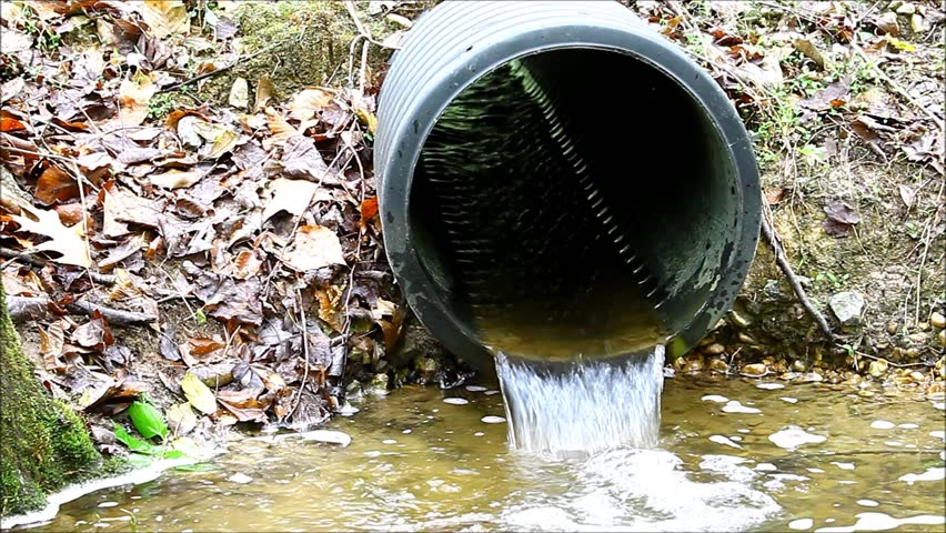 Waste Water Pipe Or Drainage Polluting Environment In The City ...
