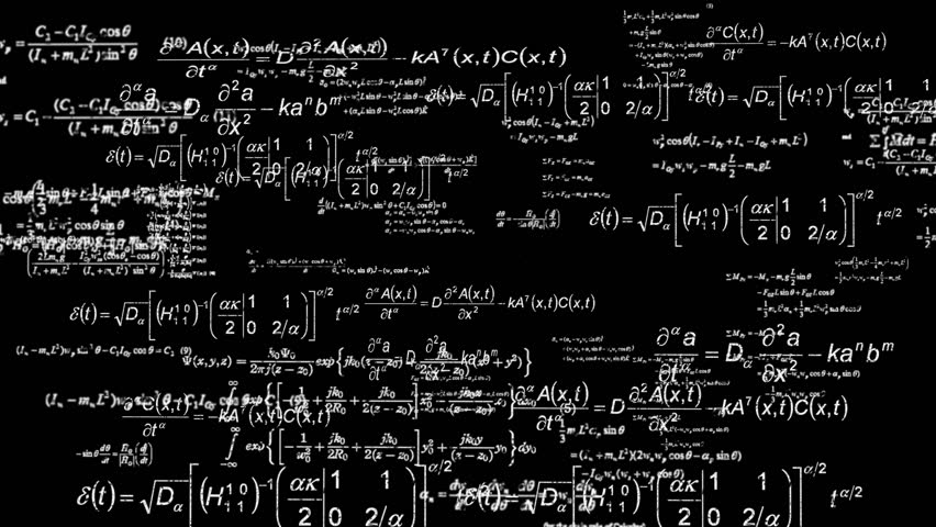 Mathematics Background Fly Through White On Pure Black Stock Footage Video 3792836