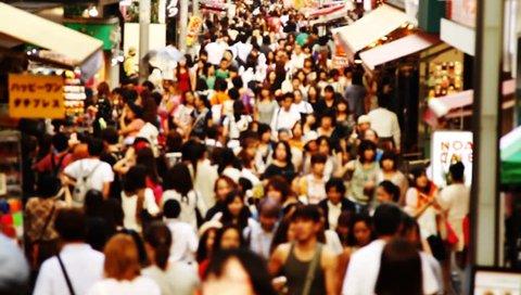 TOKYO - CIRCA SEPTEMBER 2012: Anonymous crowds on Takeshita street of Harajuku in Tokyo, Japan